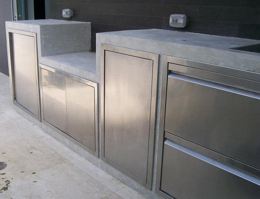 Фасады для кухни из нержавеющей стали